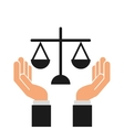 justice system concept design vector image
