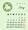 may 2015 zodiac vector image vector image