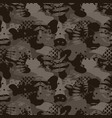 military camouflage seamless army brown hunting vector image