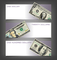 Money Dollar Banners vector image vector image