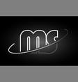ms m s letter alphabet logo black white icon vector image vector image