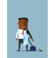 One half manager at work another home vector image