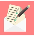 open envelope and check list vector image vector image