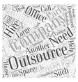 outsourcing Word Cloud Concept vector image vector image