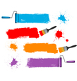 Paint brush and roller and banners