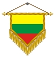 pennant with the flag of lithuania vector image vector image