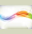 rainbow wave design vector image vector image