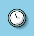 round clock time hour timer vector image vector image