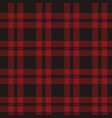 seamless pattern of red tartan vector image