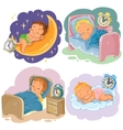 Set babies sleep vector image
