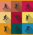 set of icons soccer players vector image vector image