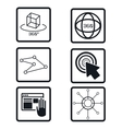 set virtual reality devices elements icons vector image vector image
