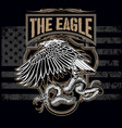 snake and eagle usa america logo design vector image vector image