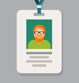 Staff admission badge pass card or identification vector image vector image