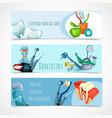 Stomatology Banner Set vector image