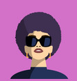stylish girl in fashionable glasses vector image vector image
