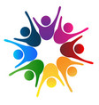 success teamwork happy people logo design vector image vector image
