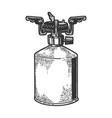 tourist gas burner stove sketch vector image vector image