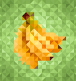 Triangle low poly banana icon vector image vector image