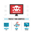 virus detected infographic vector image
