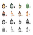 whiskey liquor rum vermouthalcohol set vector image