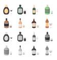 whiskey liquor rum vermouthalcohol set vector image