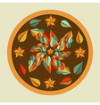 Yoga leaves mandala vector image