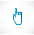 hand with the index finger vector image