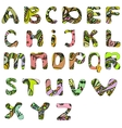 Hand drawn doodle abc font vector image