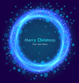 Abstract christmas blue background vector image vector image