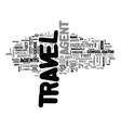 agent tricks of the travel trade text word cloud vector image vector image