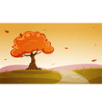 Autumn Cartoon Landscape vector image vector image