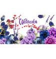 autumn flowers watercolor vector image vector image