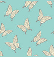 beautiful seamless background butterflies vector image vector image