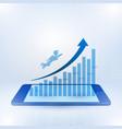 businessman flying toward top business vector image vector image