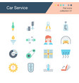 car service icons flat design collection 51 for vector image vector image