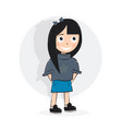 cartoon character girl vector image vector image