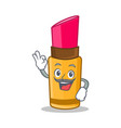 chef lipstick character cartoon style vector image vector image