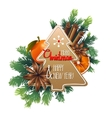 Christmas card with sweet design vector image vector image