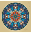 Colorful ethnic round ornamental mandala vector image