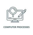 Computer processes line icon linear