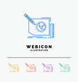 content design frame page text 5 color line web vector image