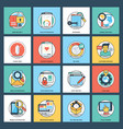 creative web development icon pack vector image