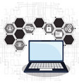 cyber security laptop online privacy vector image vector image