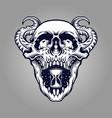 demon skull zombie tattoo vector image vector image
