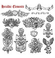 design set with heraldic elements isolated vector image vector image