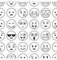 emoji and emoticons smiles flat icons set or vector image vector image