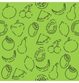 Fruits set pattern vector image vector image
