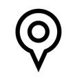 geo location pin icon vector image vector image
