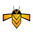 geometric bee line concept design symbol graphic vector image